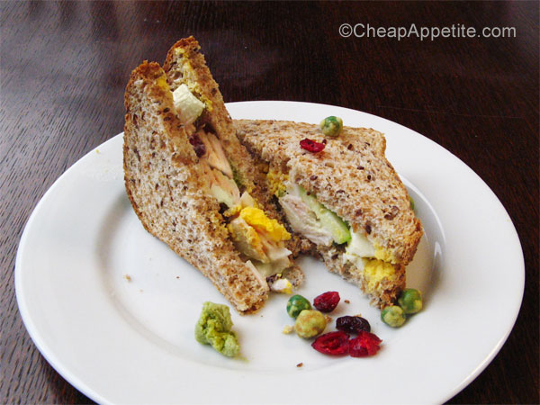 Wasabi Leftover Turkey Salad Sandwich on Plate