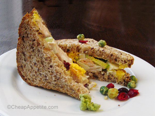 wasabi leftover turkey salad sandwich