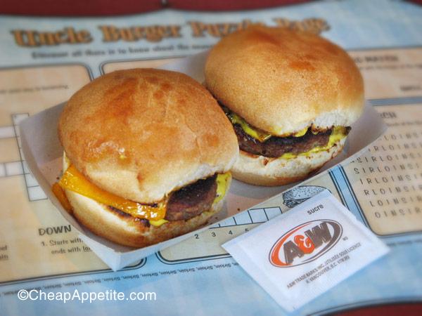 A&W Sirloin Baby Burger Twins