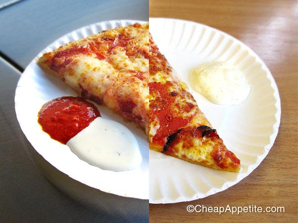 Numero Uno pepperoni pizza vs Mega Bite pepperoni pizza