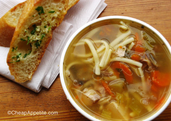 Chicken Noodle Soup at Stock Market on Granville Island