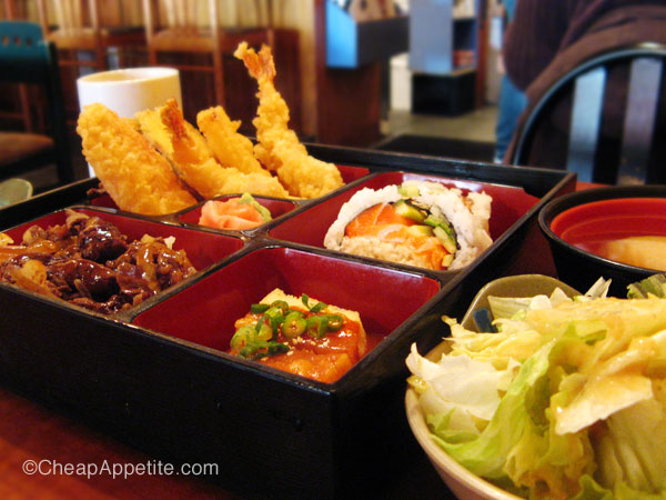 Samurai Japanese Restaurant Lunch Special Bento–$7.95