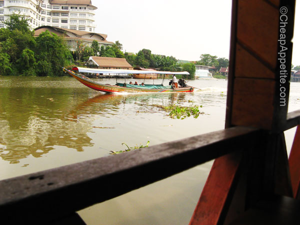 Pasak river view at Pae Krung Kao Floating Restaurant