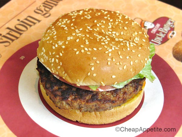 A&W Sirloin Uncle Burger