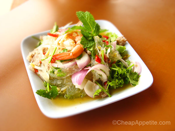 Pae Krung Kao Thai Spicy Cellophane Noodle salad
