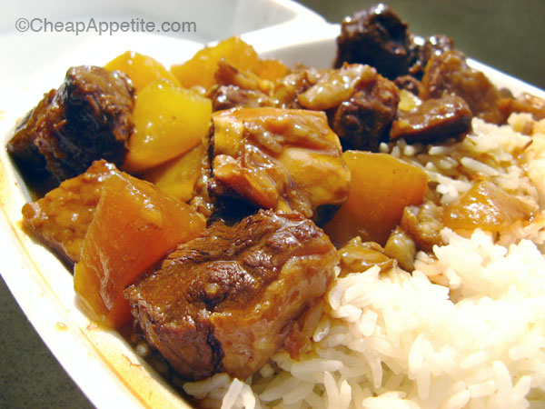 T&T stew beef brisket with daikon radish on rice