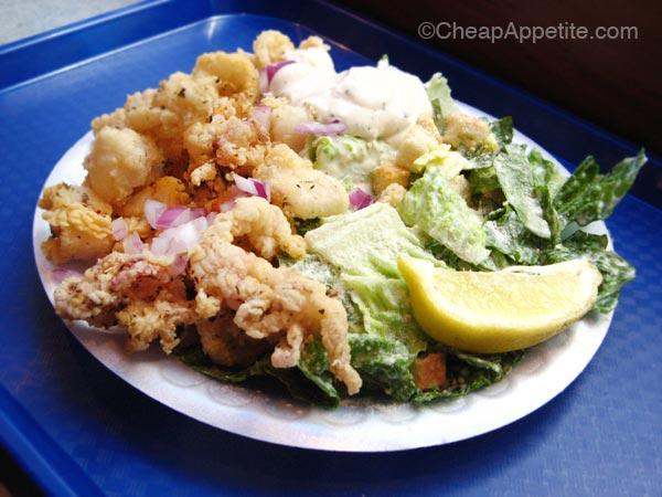 Opa! Calamari–Caesar_Salad $6.49 on Tuesday