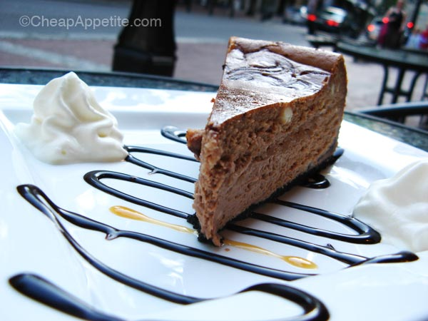 Trees Organic Chocolate Swirl Cheesecake in Gastown