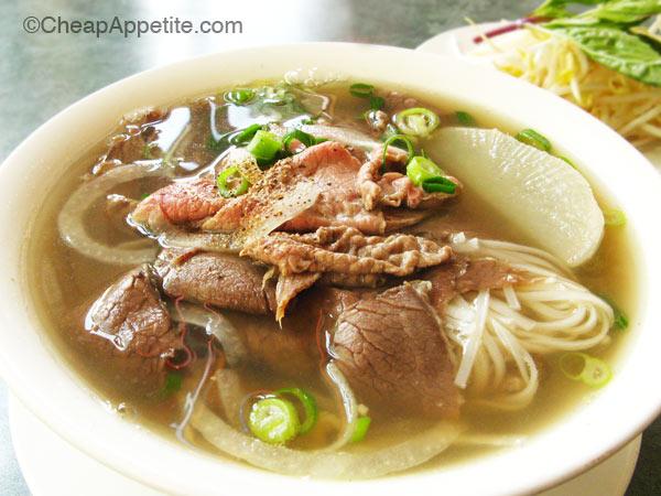 Vietnamese beef Noodle Soup at Pho Le