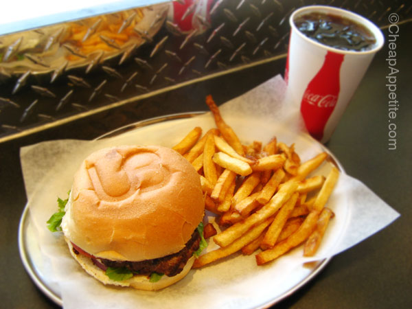 Urban Burger Combo: Beef Burger, Fries and 16 oz Drink for $5.99