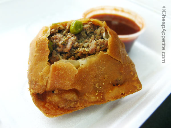 Beef Samosa from New India Buffet