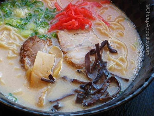 Authentic Tonkutsu Noodle Soup, Menya's Nagahama Ramen