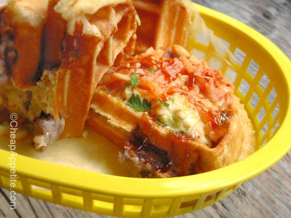 Miura bulgogi waffle sando (close up)