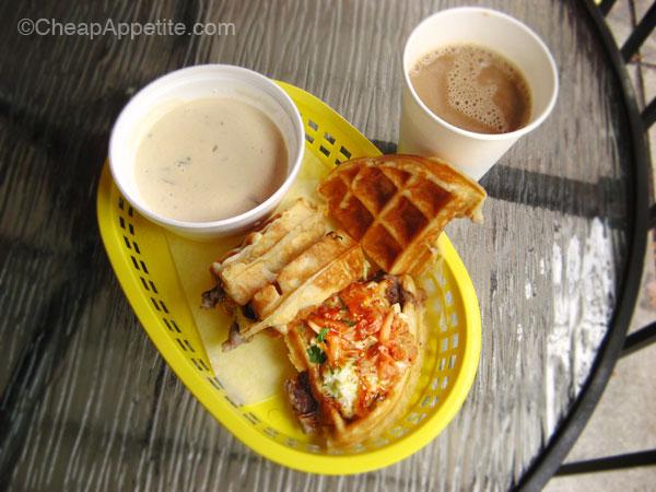 Miura Bulgogi Waffle Sando Combo ($7.99)
