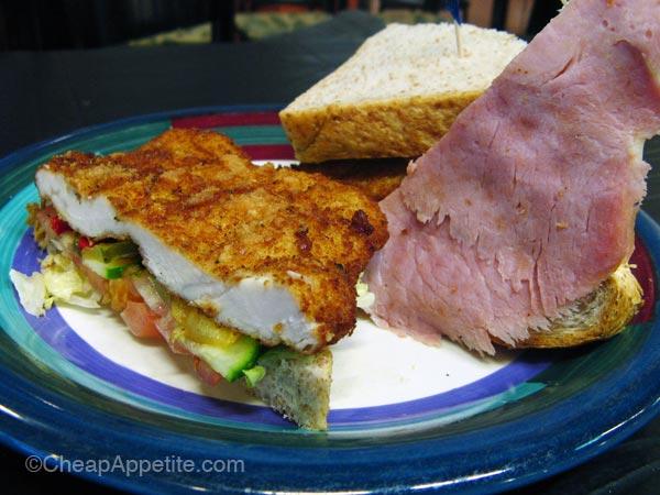 Euro Pastry House's Cordon Swiss Sandwich, inspired by Chicken Cordon Bleu