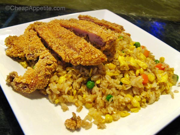 Taiwanese style fried chicken thigh fried rice