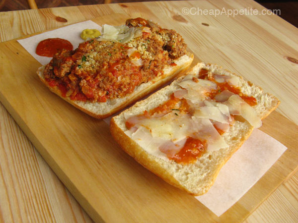 Meat & Bread Meatball Sub Open face