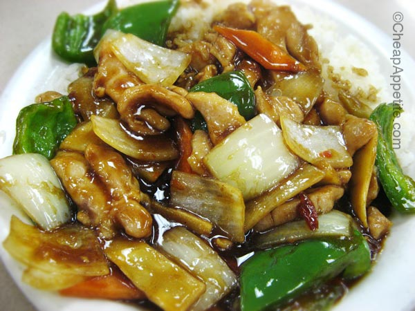 $5.50 Dinner Specials: Spicy Chicken at New Town Bakery and Restaurant Chinatown