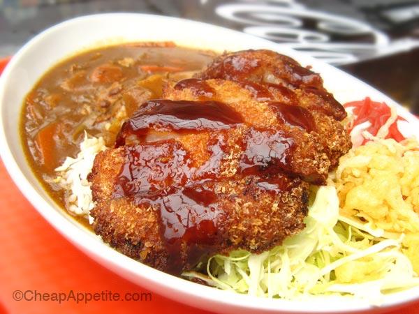 Tonkatsu Curry on rice at Ebi Ten, Robson Street