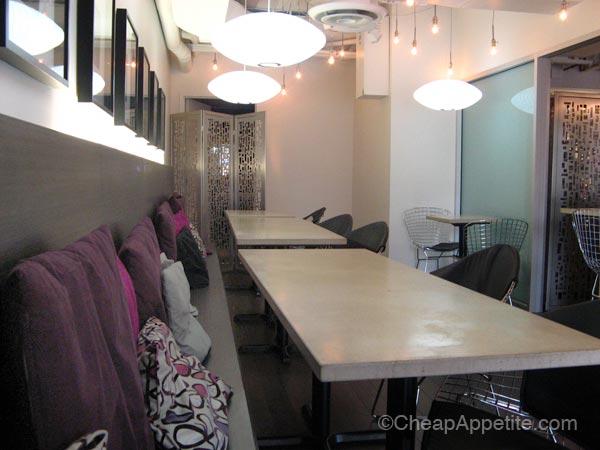 Interior of Rasoee Indian Restaurant on Robson Street