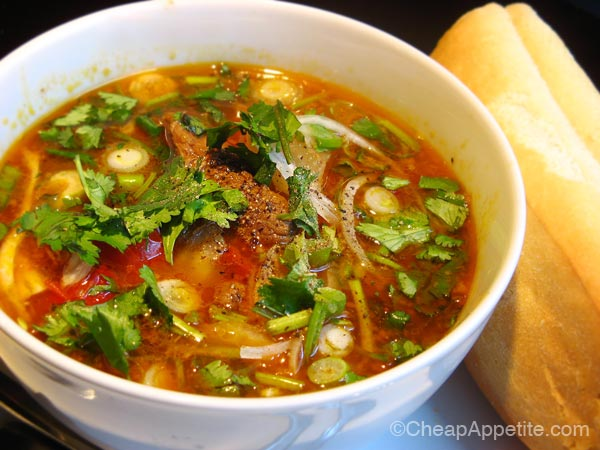 Cafe Des Daily Special No. 9: Vietnamese Beef Stew with French Baguette