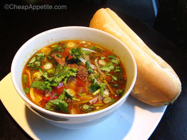 Cafe Des Arts Daily Specials Vietnamese Beef Stew with French Baguette