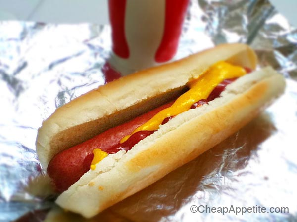 Costco hotdog and drink for just under $2
