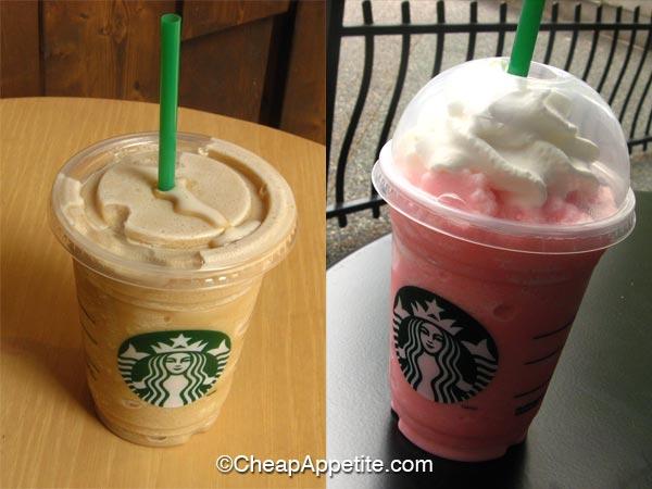 Starbucks Coffee Frappuccino and Raspberry Frapppuccino