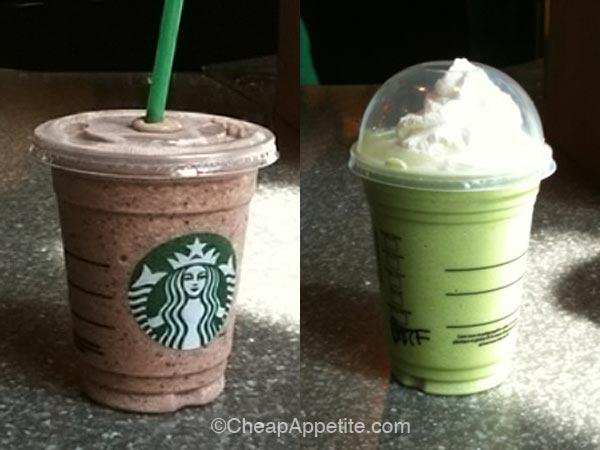 Starbucks Double Chocolaty Chip Frappuccino And Matcha