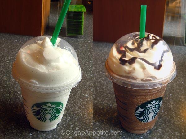 Starbucks Vanilla Beans Frappuccino and Starbucks Java Chip Frappuccino