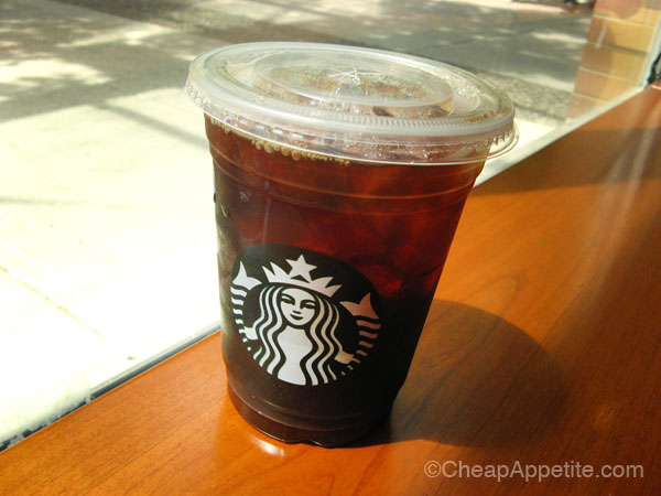 Medium Iced coffee at Starbucks