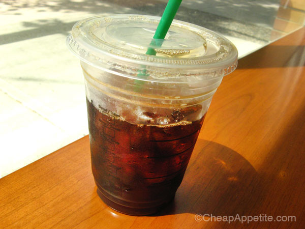 Starbucks black iced coffee